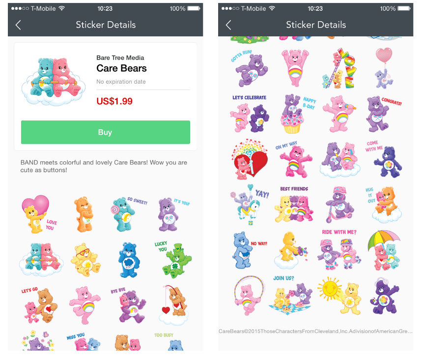 Colorful Care Bears have arrived on colorful BAND ... - photo#17