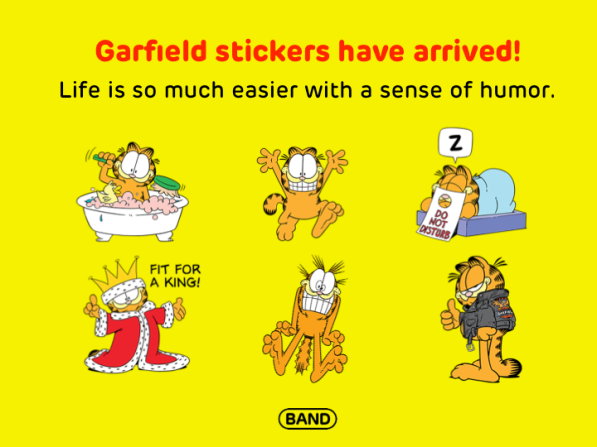 Garfield on BAND
