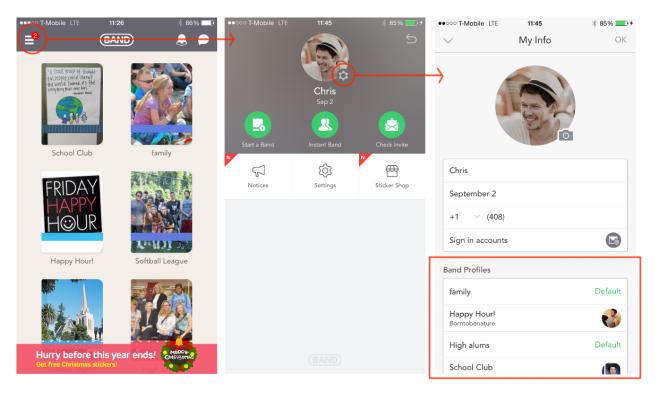 Menu > Main Profile > Profile by group