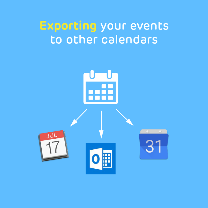 How to export Band events to your iCalendar, Google, or Outlook Calendar