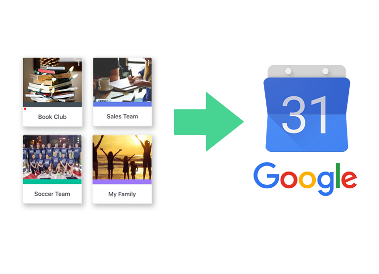 How to export Band events to your GoogleCalendar