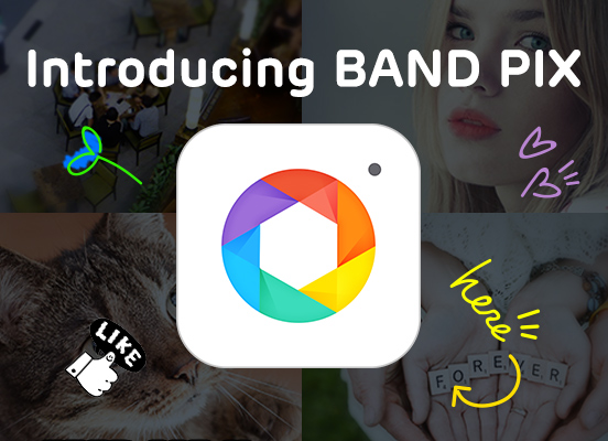 Introducing a new photo editing app, BAND PIX!