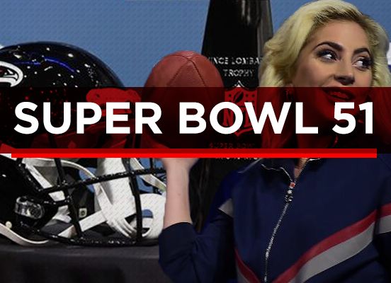 Lady Gaga Catches the 2017 Super Bowl HalftimeShow!