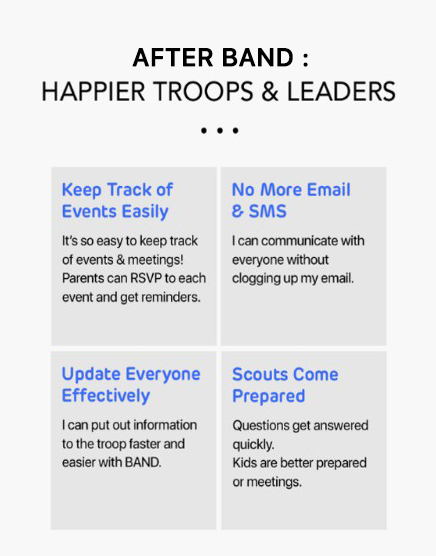 benefits of using band app for your scout troop.