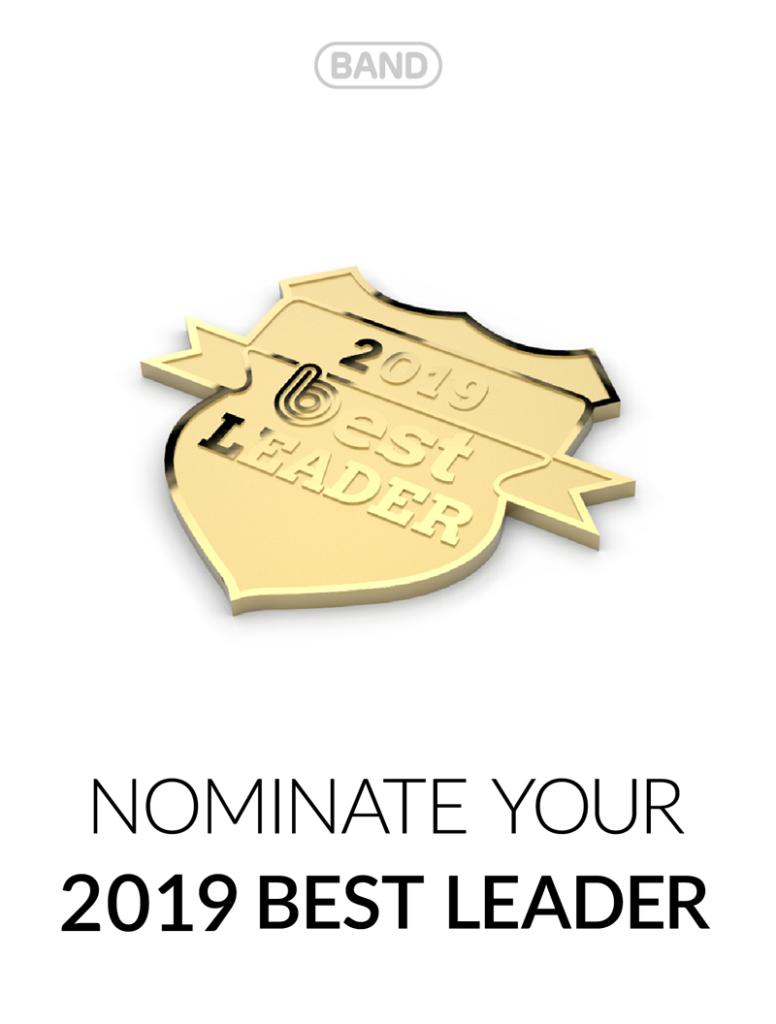 BAND best leader award